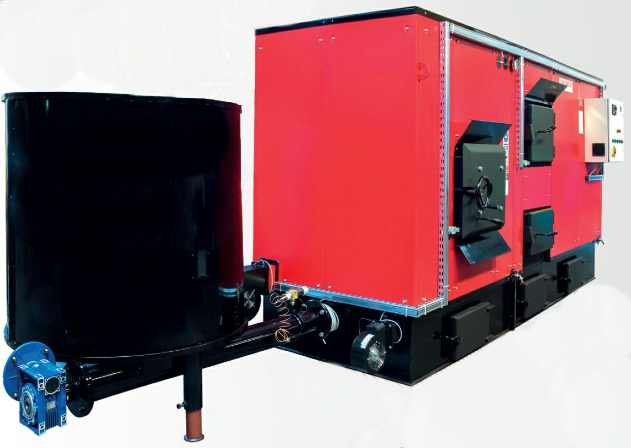 Энергосберегающие котлы серии UNI-BIO 120-1500 кВт на биотопливе